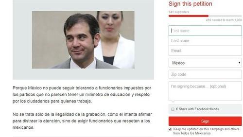 Circula petición por Internet para que Córdova renuncie al INE