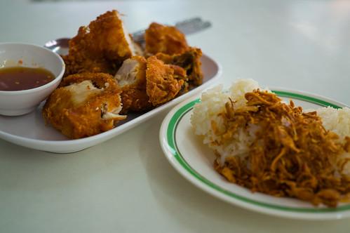 Fried Chicken & Sticky Rice at Hatyai