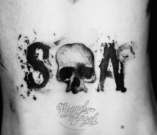 Son of anarchy tattoo by miguel angel tattoo for Sons of anarchy tattoos