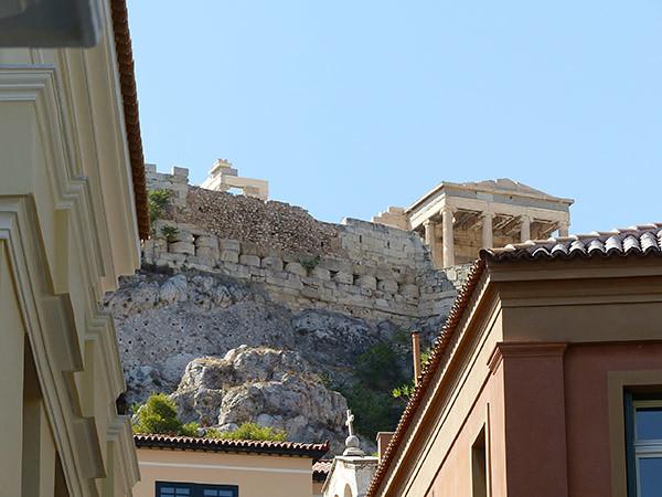 en haut de Plaka, l'Acropole