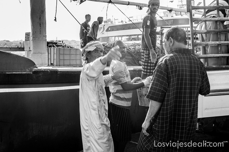 pescadores en la isla de Masirah