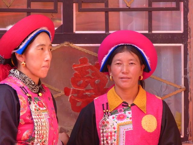 Mujeres tibetanas en una boda (Yunnan, China)