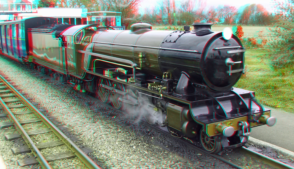 Rhdr Steam Locomotive Hercules 3d Anaglyph Red Blue Or Cy