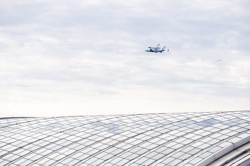 Space Shuttle Discovery flyover Washington, D.C. and World Bank | by World Bank Photo Collection