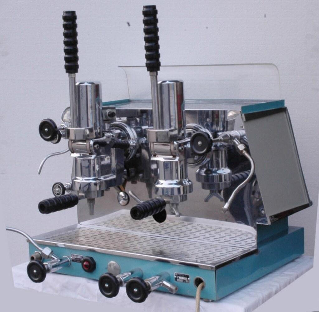 vintage lever espresso machine