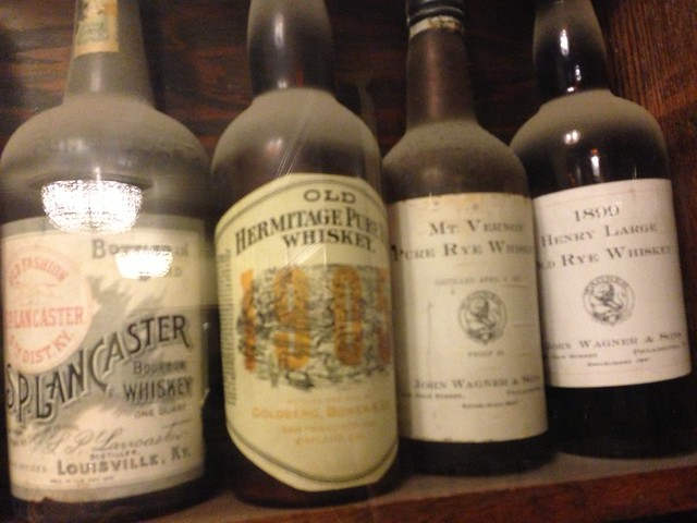 old whiskey bottle collection here at the broadmoor  they