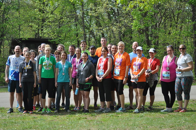 group photo of race participants