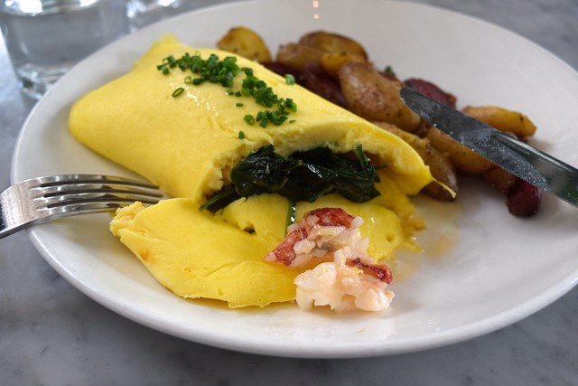 Lobster Omlette at Salt Air, Abbot Kinney Boulevard