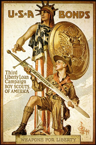 World War II Poster - U-S-A Bonds