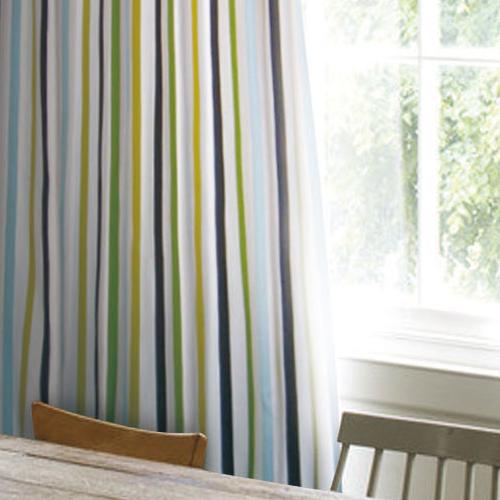 藍彩緞帶(獨家) 簡約繽紛彩色直條紋 半遮光無接縫窗簾布 DA2990005