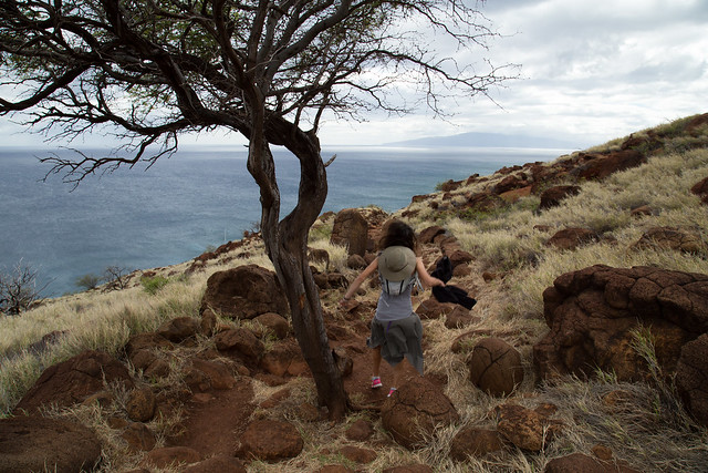 Rock Hopping the Lahaina Pali Trail