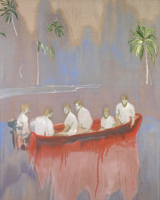 Peter Doig, Figures in Red Boat, 2005-2007, Oil on linen