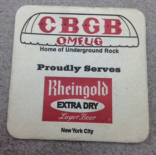 CBGB Drink Coaster (Venus DeMars Collection at Minnesota Underground Music Archive)