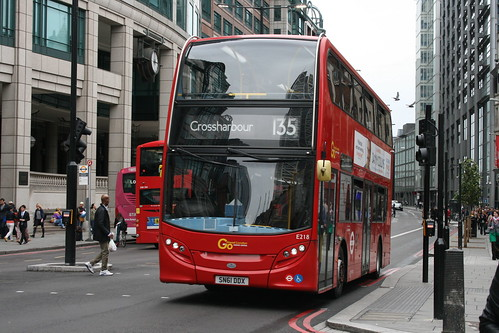 Docklands Buses E218 on Route 135, Liverpool Street