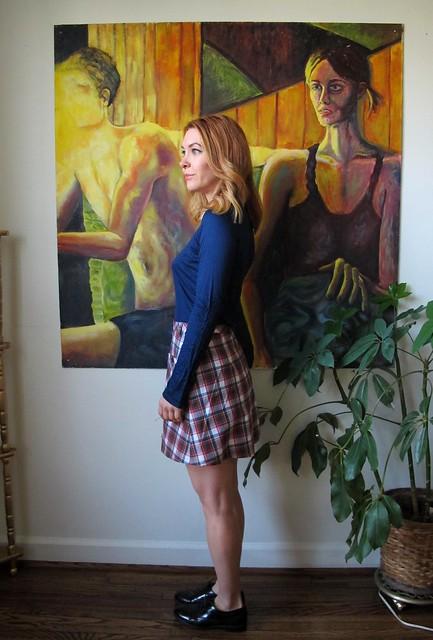 Plaid Rosari Skirt - side