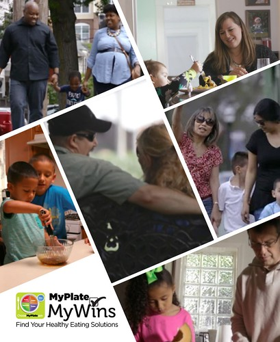 A compilation of MyPlate, MyWins families graphic