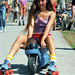 Venice Beach, Cute Rollerskater On Pocket Rocket