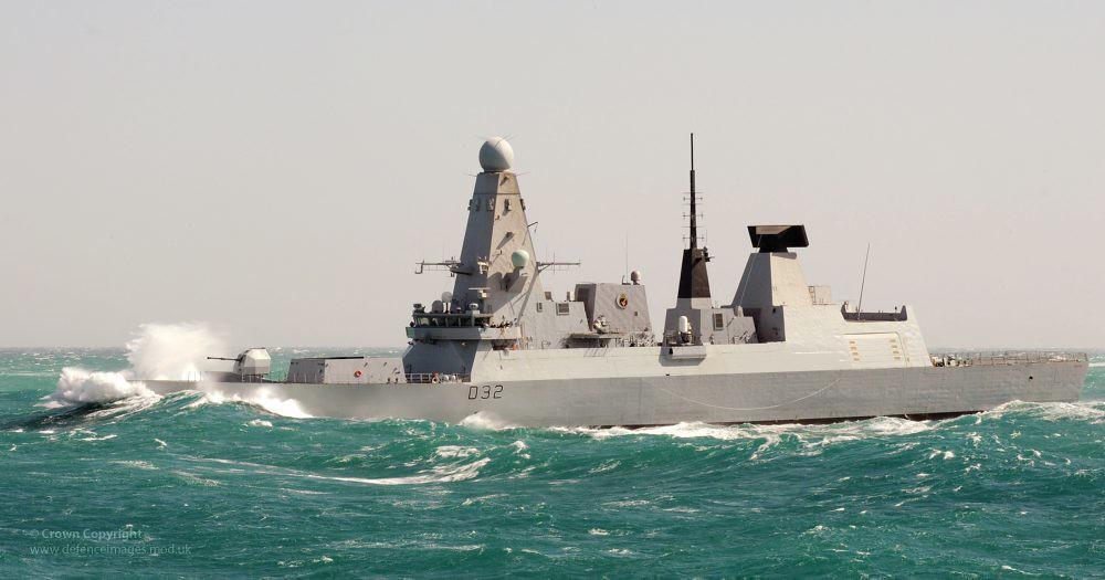 type 45 destroyer hms daring in heavy seas type 45