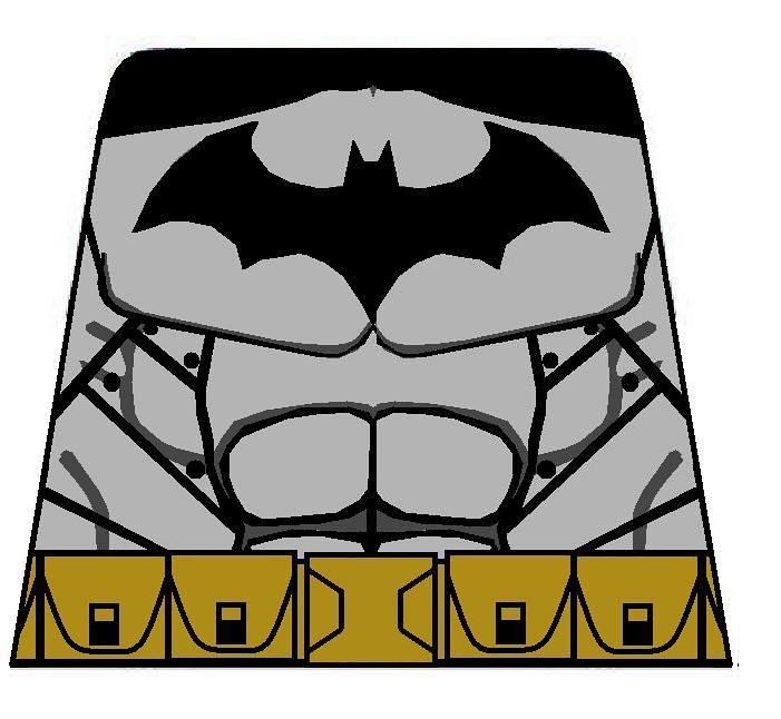 Batman Torso Decal BAC   As seen in the videogame Batman ...