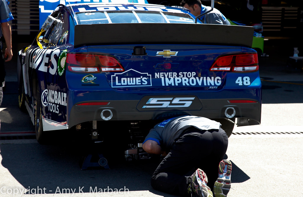 Jimmie Johnson Chevy >> Team 48   The crew works on the #48 Lowes Chevy of Jimmie Jo…   Flickr