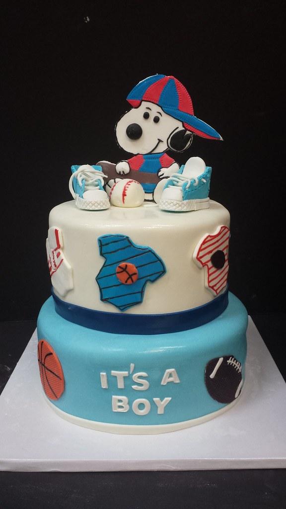 Baby Q Shower Cake