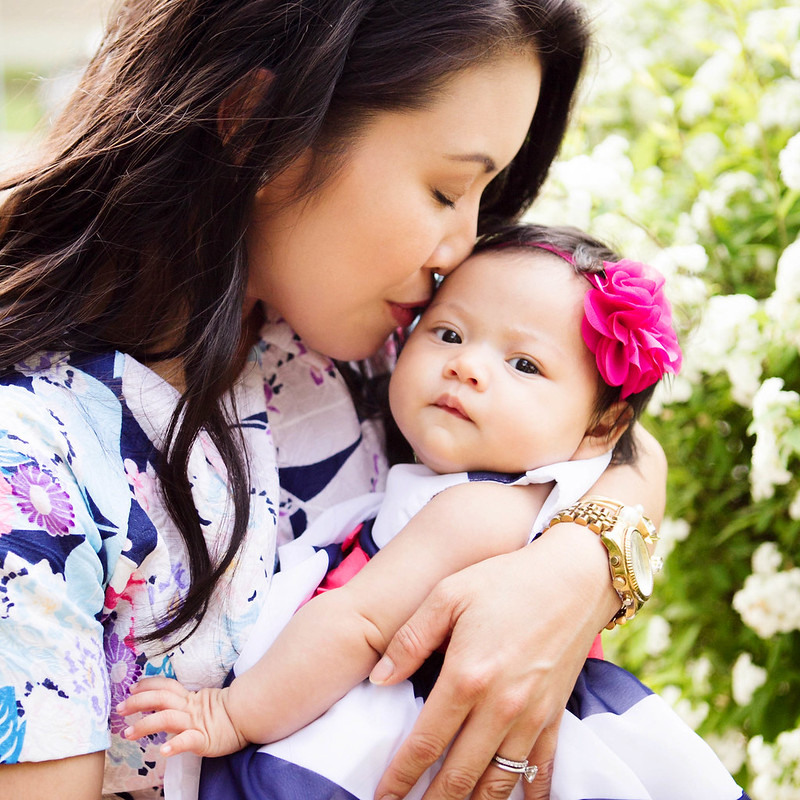 cute & little blog | petite fashion | oasap floral dress | mommy daughter spring outfit