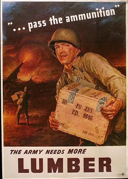 World War II Poster - pass the ammunition