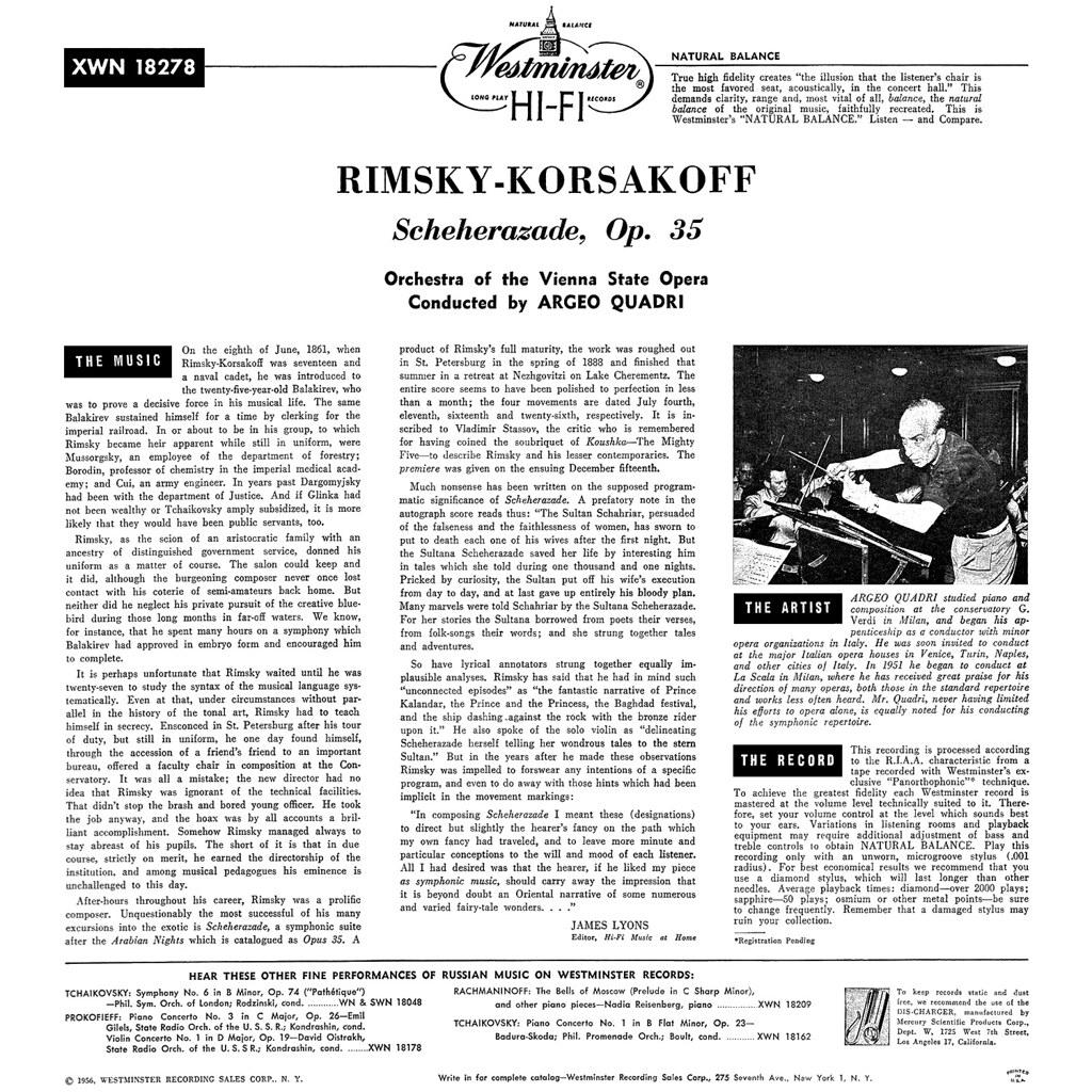 Nikolaï Andreïevitch Rimski-Korsakov - Scheherazade