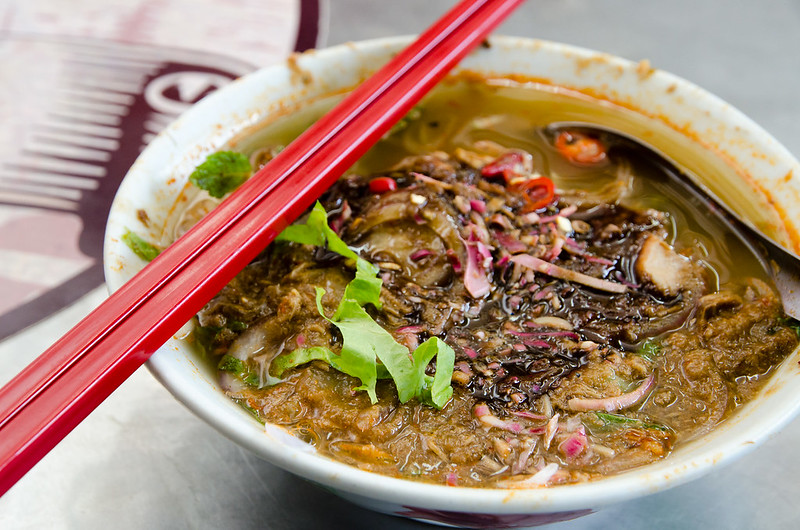 A delicious bowl of Penang Air Itam Laksa