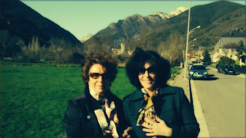 Mamá y Bea en Biescas