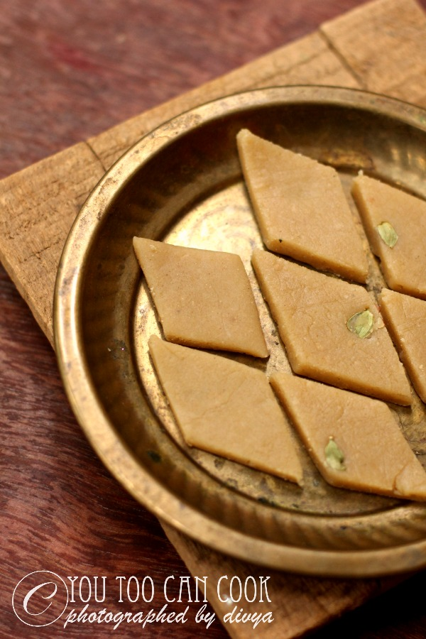 wheat flour barfi