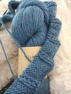 Gola tricotada em Herriot da JMF, pela Cristina