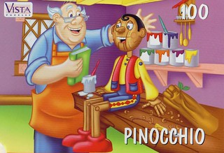 "VISTA PUZZLES :: ""PINOCCHIO"" - 100 Piece Jigsaw Puzzle { Art by Lavigne & Brown } (( 199x )) 