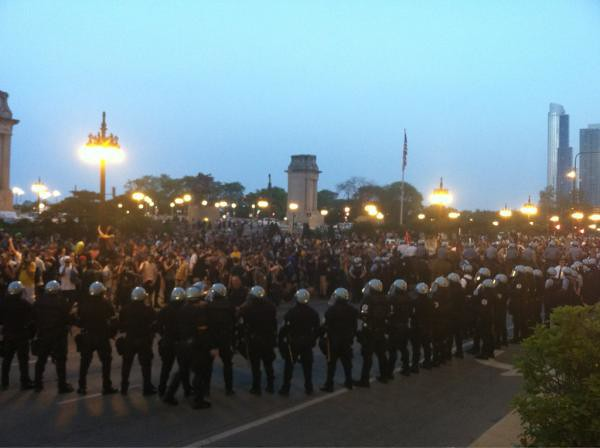 Chicago NATO police confrontation 930PM Richard Roeper