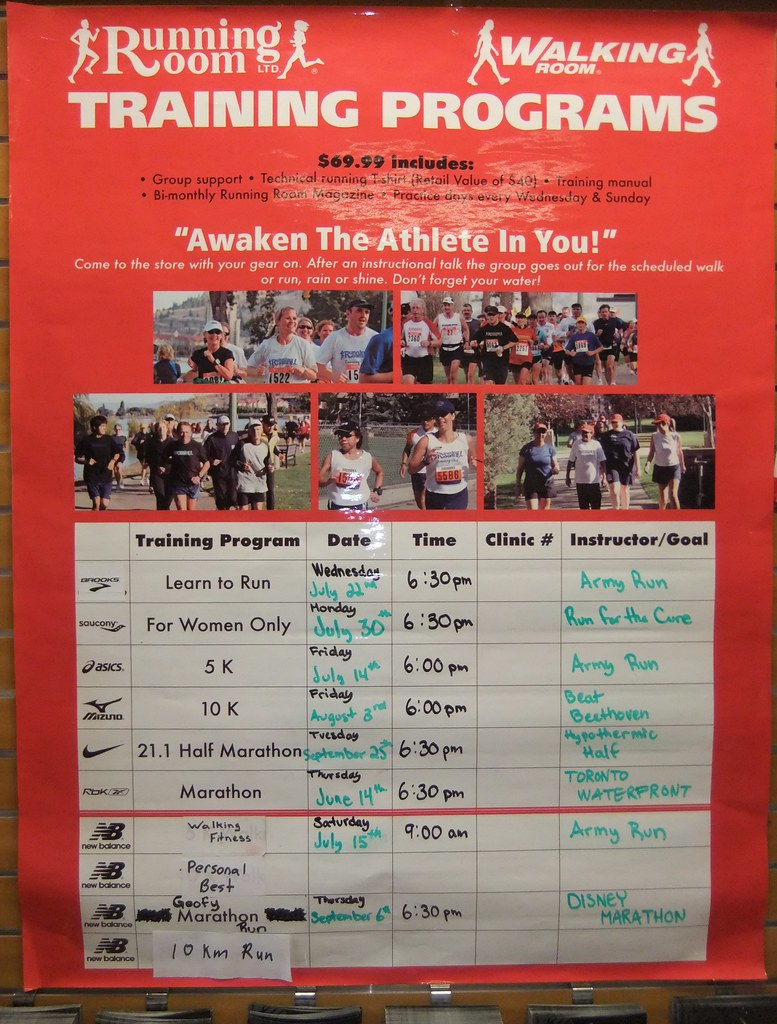 Running Room Races July