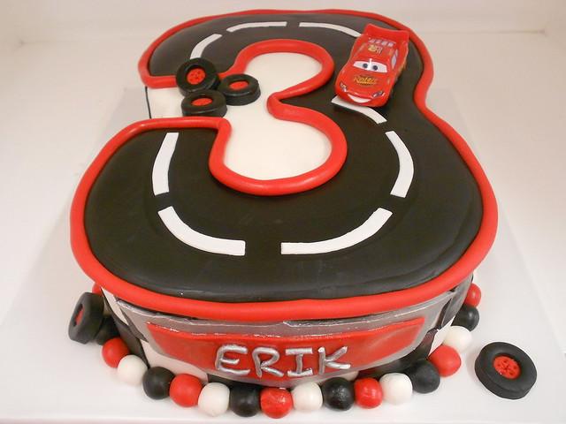 Disney Cars Birthday Cake: Disney Cars Race Track Cake (1974)