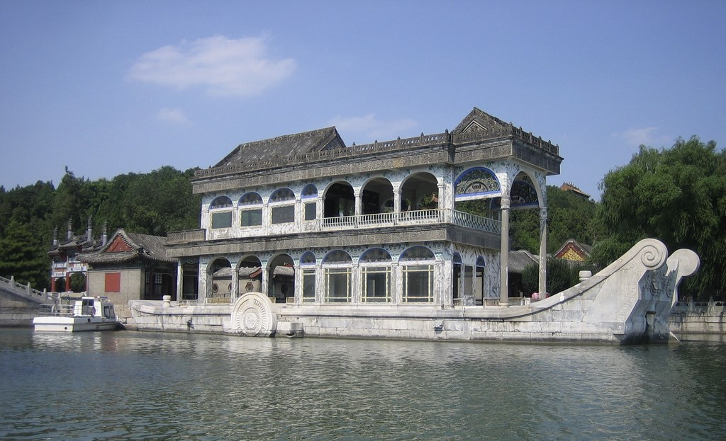 Image result for marble boat in summer palace