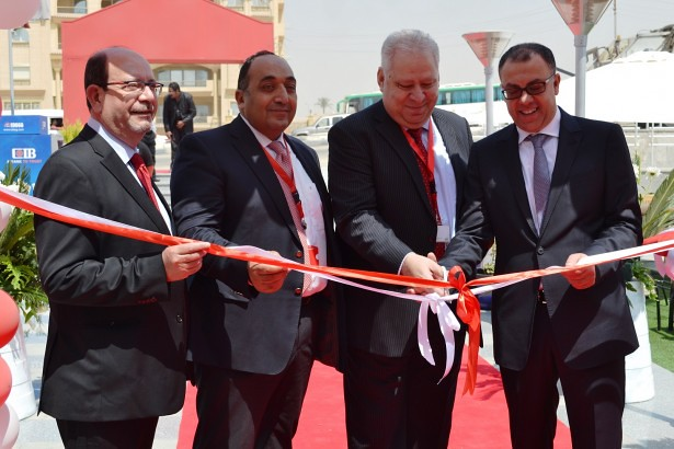 A ribbon-cutting ceremony at the opening of Ace Hardware in Cairo, Egypt