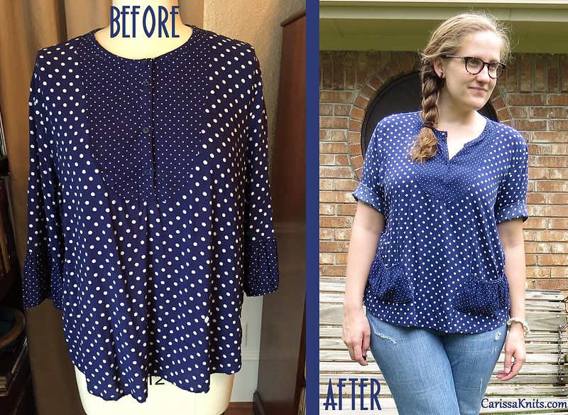 Polka Dot Pockets - Before & After