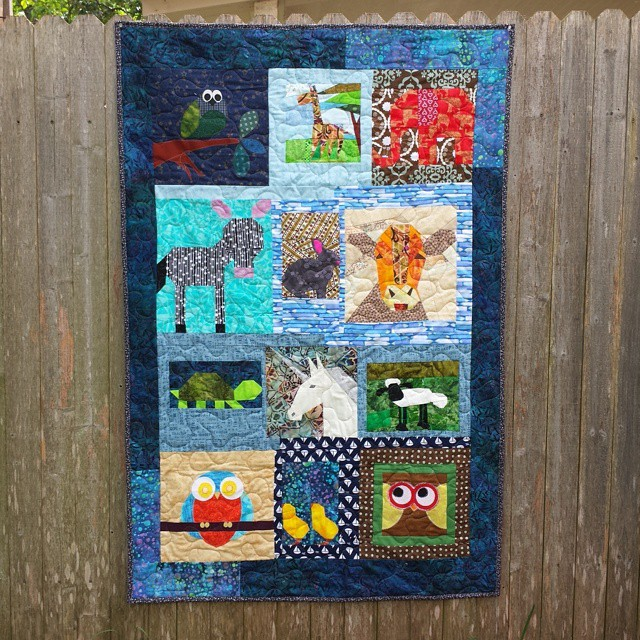 Gorgeous quilt, donated by Alida (tweloquilting.blogspot.com). Quilted by Marge, bound by me. Going to thelinusconnection.org on Saturday. #charityblanket #blanketcharity #quiltforgood