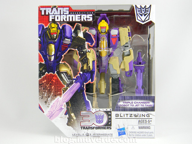 Transformers Blitzwing Voyager - Generations - caja