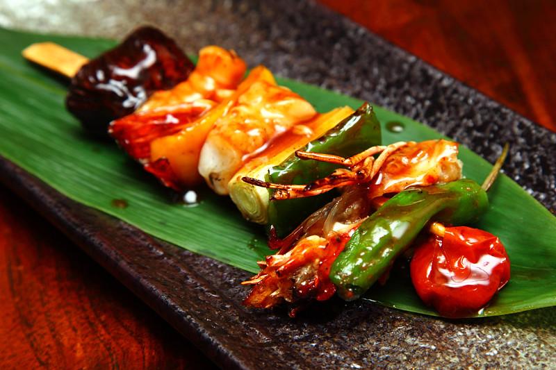 Seafood-Kebab