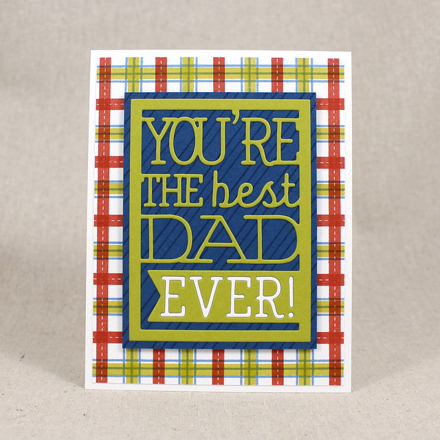 Best Dad Plaid Card