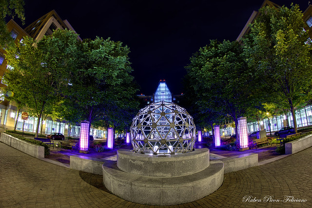 Geodesic Dome Fountain and Madison Building