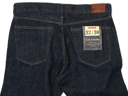 J.Crew / 1040 Slim-Straight Japanese Selvedge Jean in Resin Crinkle Wash