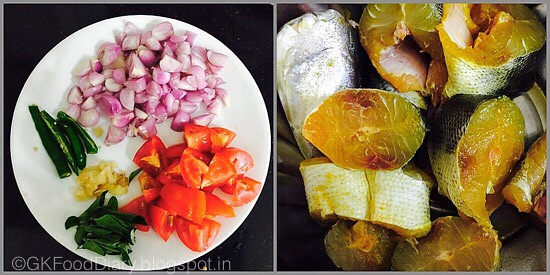 Chettinad Fish curry - preparation step 1