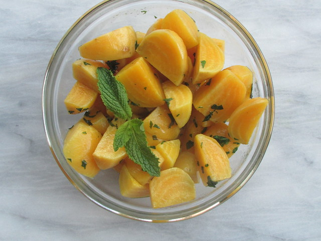 golden beets with mint on twothirtyate.com