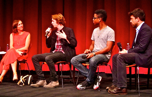 cast and director at academy