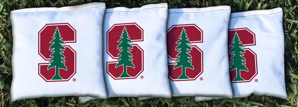 STANFORD UNIVERSITY CARDINAL WHITE CORNHOLE BAGS