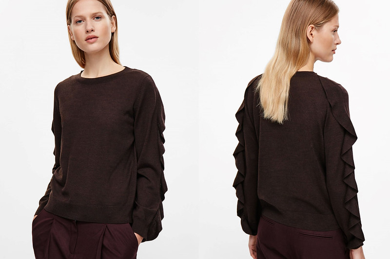 Jumper with Frill Sleeves by COS
